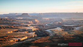 Sunset over Green river overlook, Canyonlands, USA