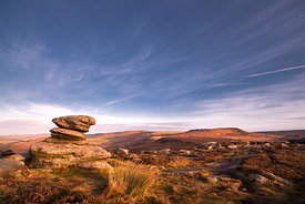 Dawn light on Higger Tor