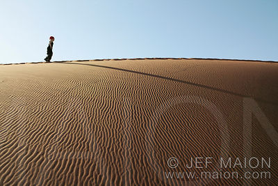 Walking on dune