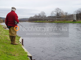 Fly fishing on the Spey