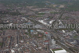 Crewe looking from the south towards the town centre