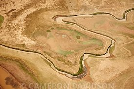 Aerial of the Blue Nile in Ethiopia
