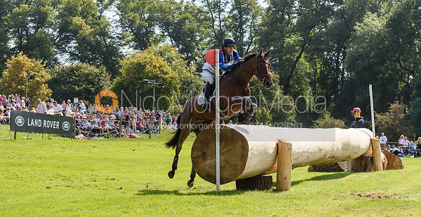 Kristina Cook and STAR WITNESS, cross country phase, Land Rover Burghley Horse Trials 2018