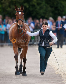 Jrina Giesswein (SUI) and Thunder III, MItusbishi Motors Badminton Horse Trials 2011