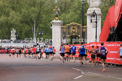 Runners nearing the Finish Line at the London Marathon