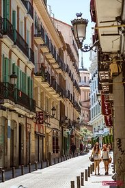 Street view , Madrid, Spain