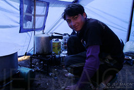 Kitchen boy in base camp