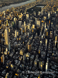 Aerial New York City Manhattan