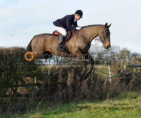 jumping a hedge near Hill Top Farm