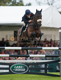 Polly Stockton and Westwood Mariner - show jumping phase,  Land Rover Burghley Horse Trials, 2nd September 2012.