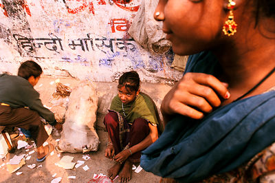 India - Delhi - Rag pickers