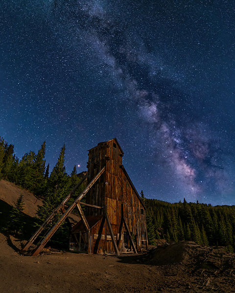 Mars and Milky Way Meet at Yankee Girl Mine
