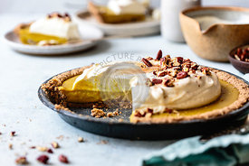 Homemade pumpkin cream pie, gluten free. Made with hazelnut flour.