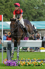 Beanie Sturgis and LEBOWSKI - cross country phase,  Land Rover Burghley Horse Trials, 7th September 2013.