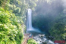 La Paz waterfall in the green rainforest of Costa Rica