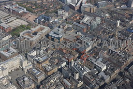 Liverpool City Centre aerial photograph of the area surrounding Moorfields and Exchange Station