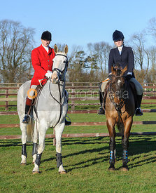 Nicholas Leeming MFH and Georgina Heneage - The Cottesmore Hunt at Burrough House 17Dec13