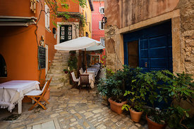 Back Street in the old town of Rovinj