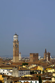 Italy - Verona - A view of the city from the terrace of the Giardini Giusti