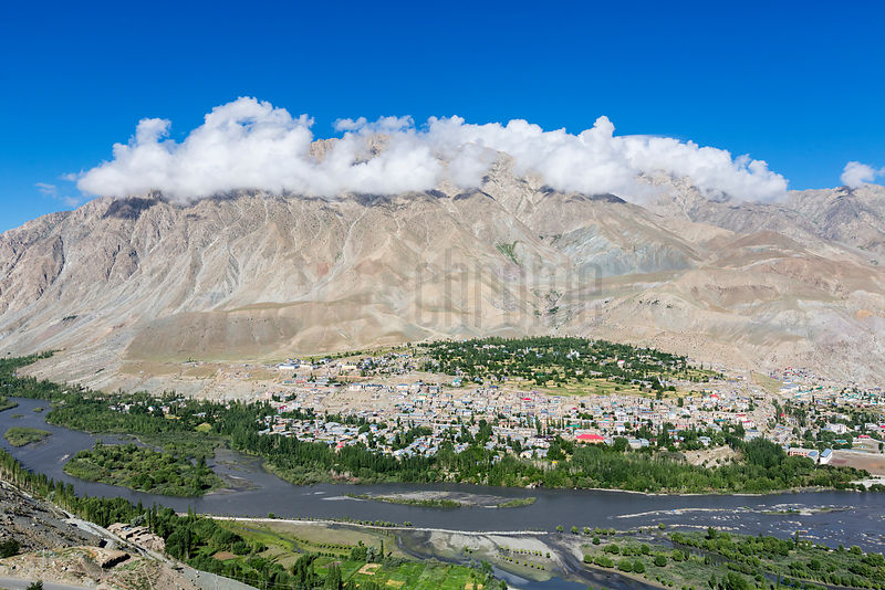 Elevated View of the City of Kargil