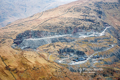 KIRKSTONE PASS 15A - Aerial view of Kirkstone Quarries