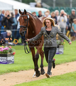 Imogen Murray and IVAR GOODEN at the trot up, Land Rover Burghley Horse Trials 2018