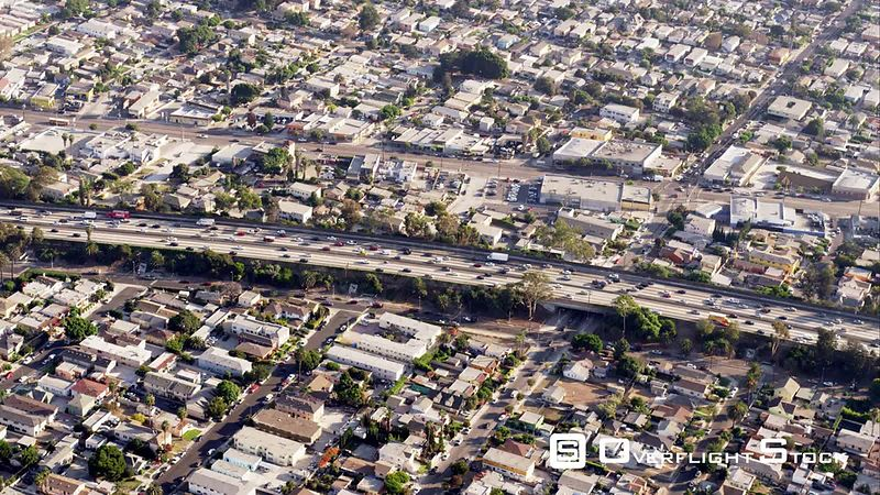 Aerial View Of Freeway I10, Camera Moving Eastbound, RED R3D 4k California