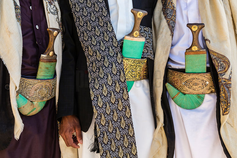Yemeni Men Wearing Jambiyas