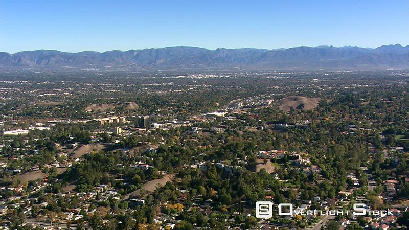 Wide aerial view across San Fernando Valley.