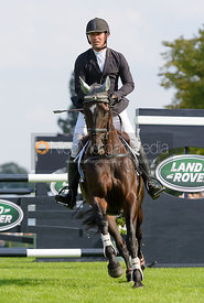 Murray Lamperd and UNDER THE CLOCKS - show jumping phase, Burghley Horse Trials 2014.