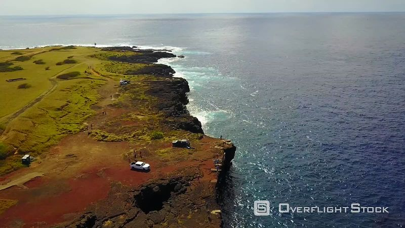South Point, Kau Coast, Southernmost Point in the Usa, Filmed by Drone, Big Island of Hawaii, Usa