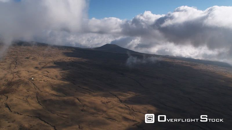 High up slope of Mauna Loa in cloud shadow.