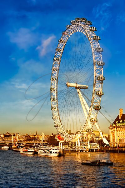 London Eye at Sunset Vertical