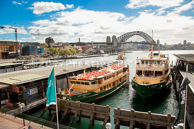 Ferry boats at Circular Quay in Sydney