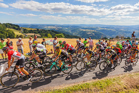 The Peloton in Mountains - Tour de France 2017