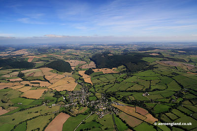 aerial photograph of Clun Shropshire England UK
