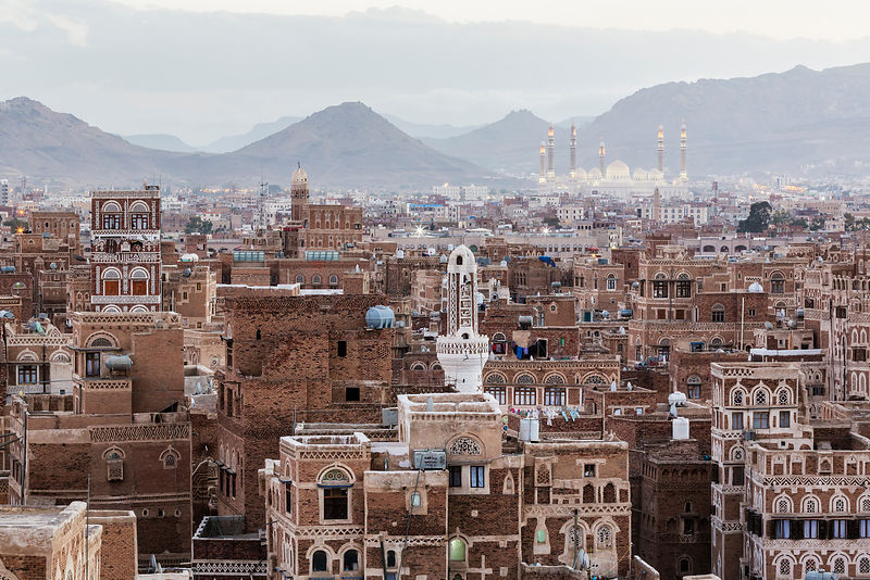 Elevated View of Sana'a at Dusk