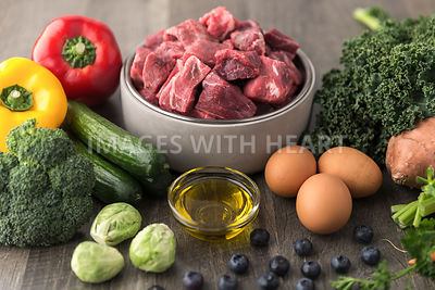 beef and other fresh dog food ingredients