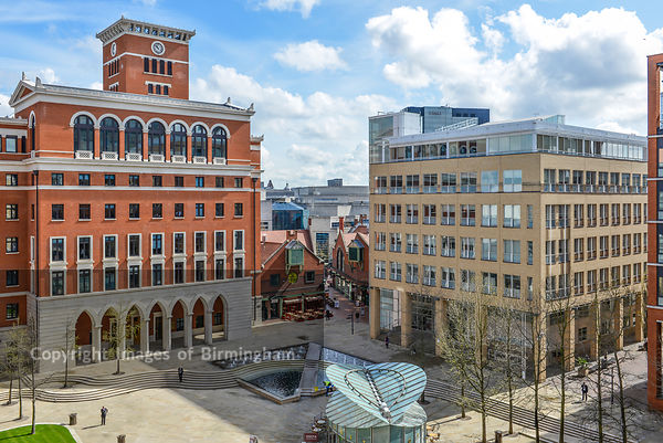 Central Square, Brindleyplace, Birmingham. West Midlands, England.