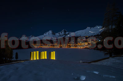 Heinz Mack - Sky Over 9 Columns - NightShift - Winter 2017 Saint Moritz photos