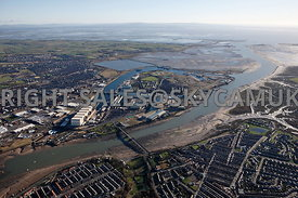 High level view of Barrow Docklands Barrow in Furness and Morecombe Bay Lancashire