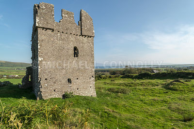 Rahinnane Castle and Dingle Bay- Ventry, Ireland
