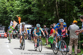 Cyclists on Col du Granier - Tour de France 2012