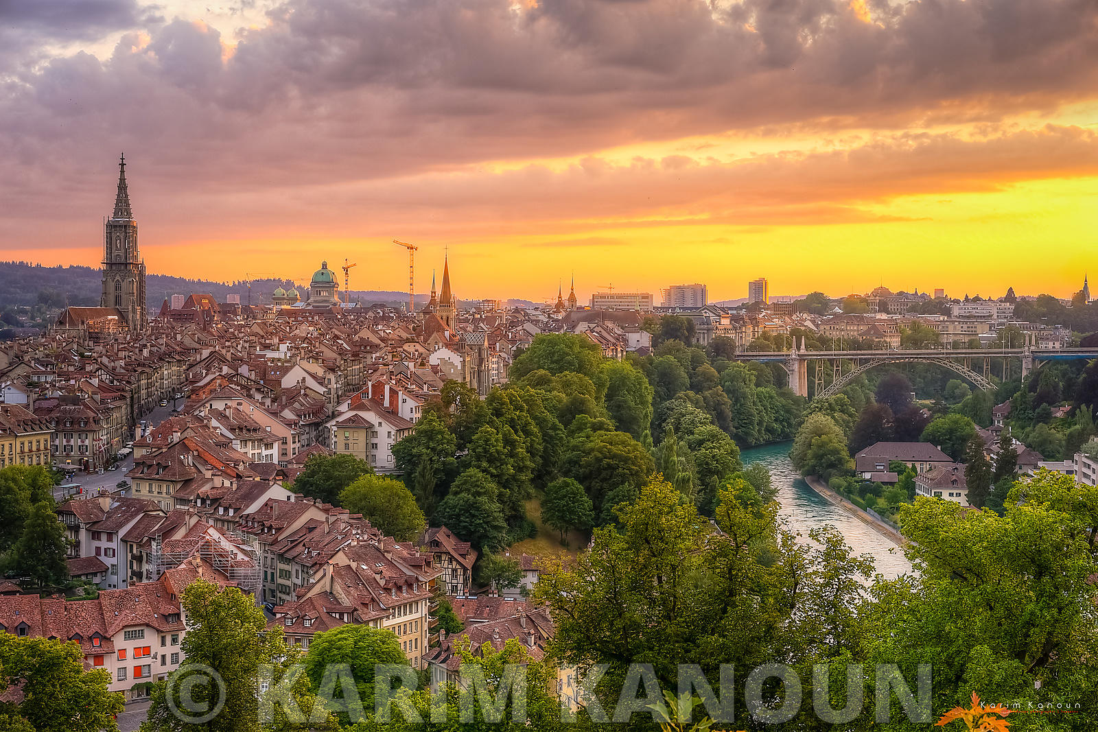 Golden Sunset - Bern