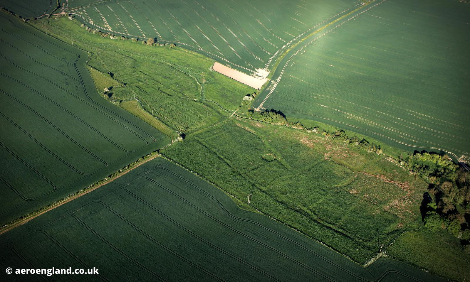 South Cadeby  deserted medieval villages (DMV) Lincolnshire aerial photograph