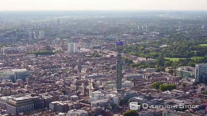 Bt Tower and Regents Park, London, United-kingdom