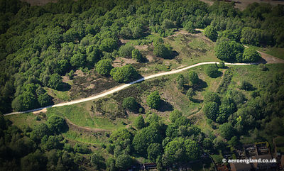 aerial photograph of Wincobank Iron age hill fort in  in Sheffield West Yorkshire England UK