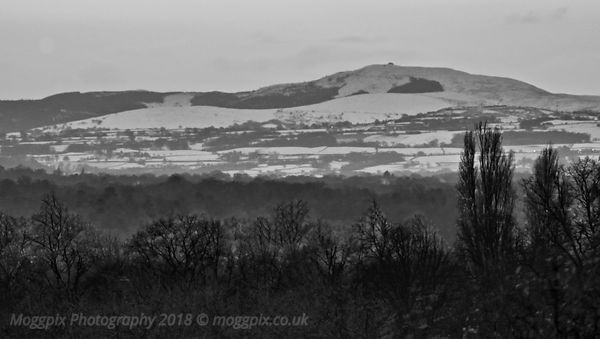 Snow upon Moel Famau