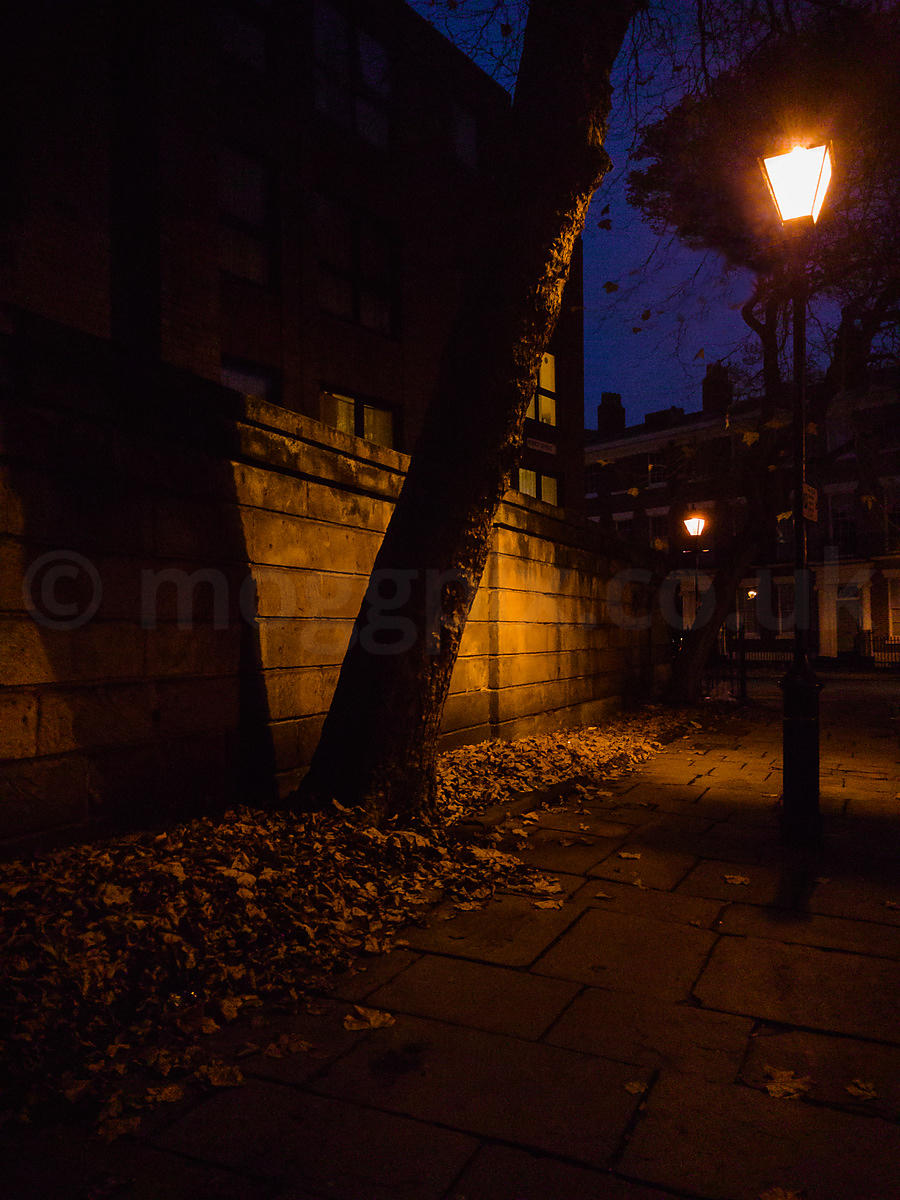 A Georgian Street in Liverpool, at Night