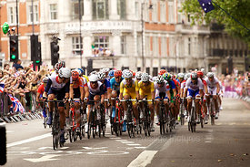The Men's Cycling Road Race in the London Olympics